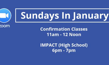 Confirmation and IMPACT Online in January